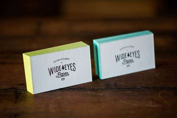 Elegant Letterpress Business Card