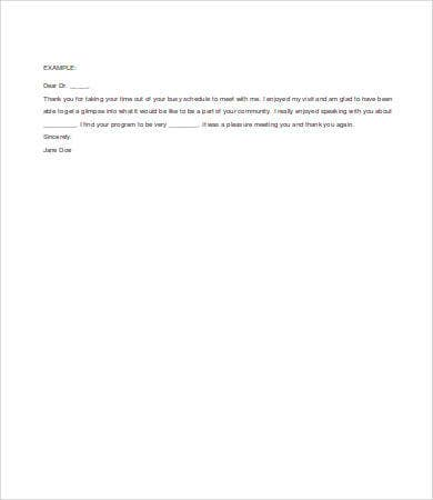 thank you letter interview thank you letters after an 8 free word pdf 25113 | Thank You Letter After Residency Interview