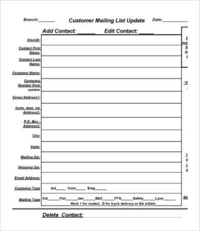 Mailing List Template - 8+ Free Word, PDF Documents Download ...
