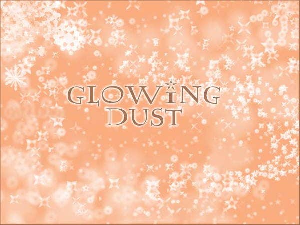 glowing dust brushes
