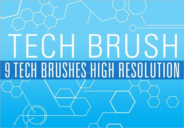 High Resolution Tech Brushes