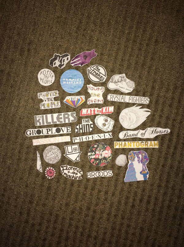 indie band stickers