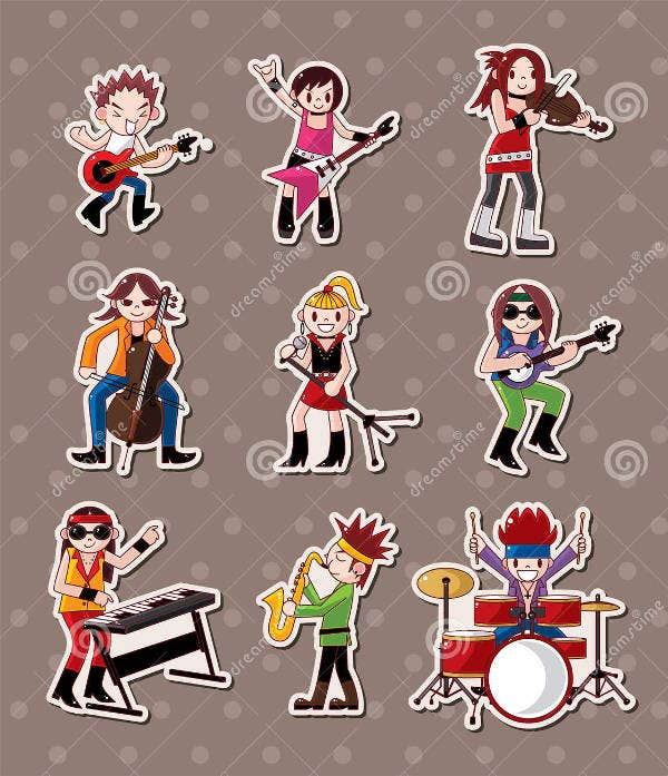 band music stickers