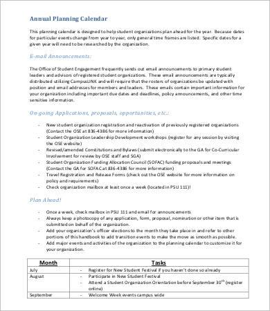annual planning calendar template1