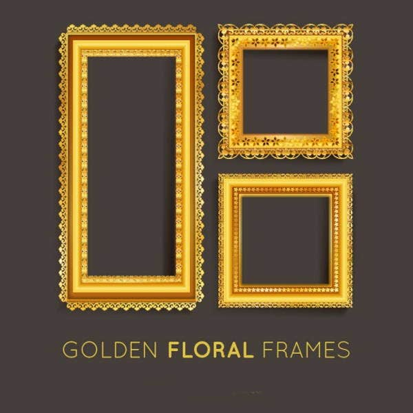 gold-frame-vector