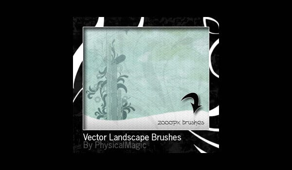 vector landscape brushes