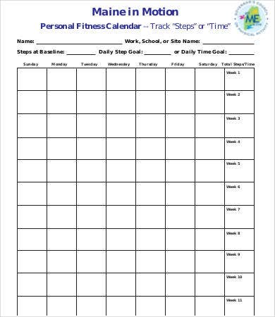 Personal Calendar  Free Word Pdf Documents Download  Free