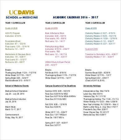 personal medical calendar