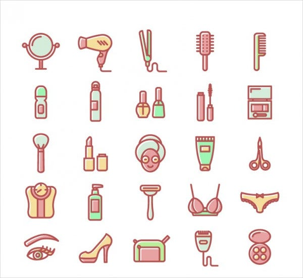Beauty Vector Icons Set
