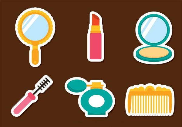 woman-cosmetic-icons-set
