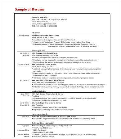 7+ Management Consulting Resume Templates - PDF, DOC | Free ...