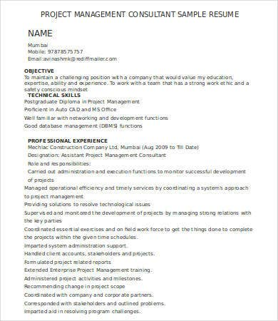 management consulting resume 7 free word pdf documents