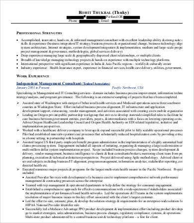 Management Consulting Resume - 7+ Free Word, Pdf Documents