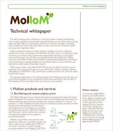 Technical White Paper Template  Free White Paper Templates