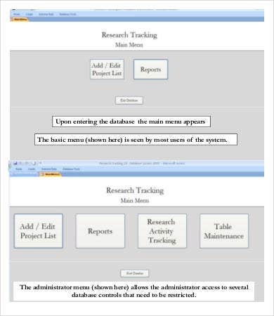 Project Tracking Database Template