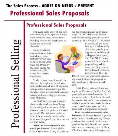 Professional Sales Proposals Template