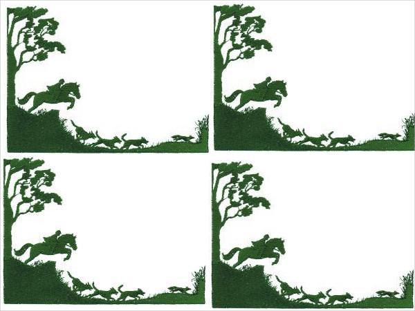 fox hunting silhouette