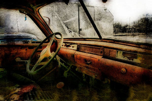 grunge photography with rust