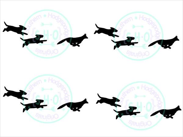 running fox silhouette