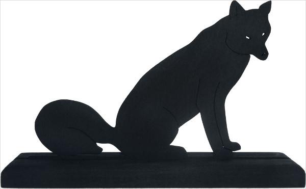 sitting fox silhouette