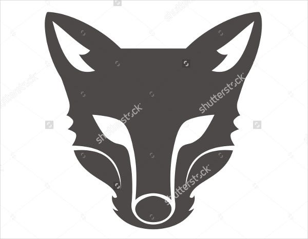 fox head silhouette