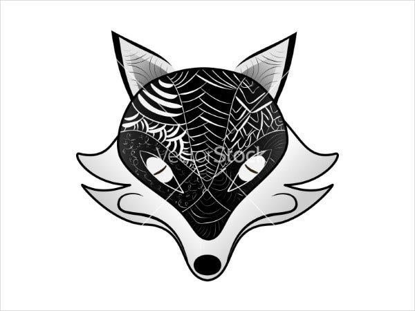 black-and-white-fox-silhouette