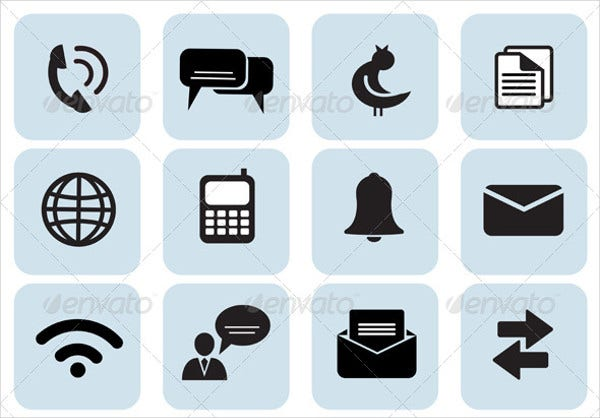 Set of 20 Communication Icons
