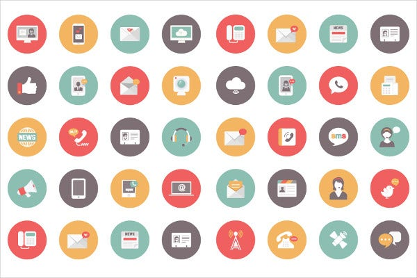 Free Communications Vector iIcons