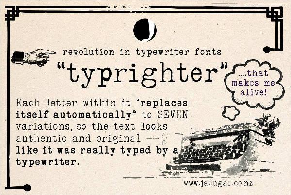 word-typewriter-font