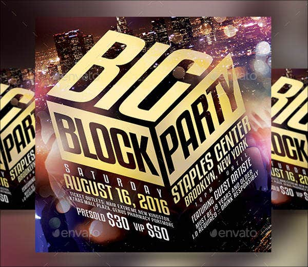 Block Party Summer Flyer Template