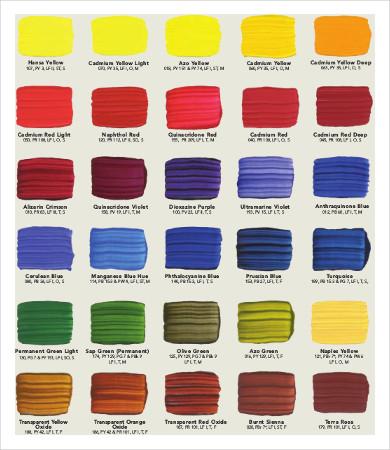 paint color temperature chart