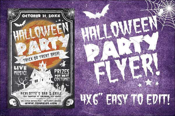 Halloween Block Party Flyer