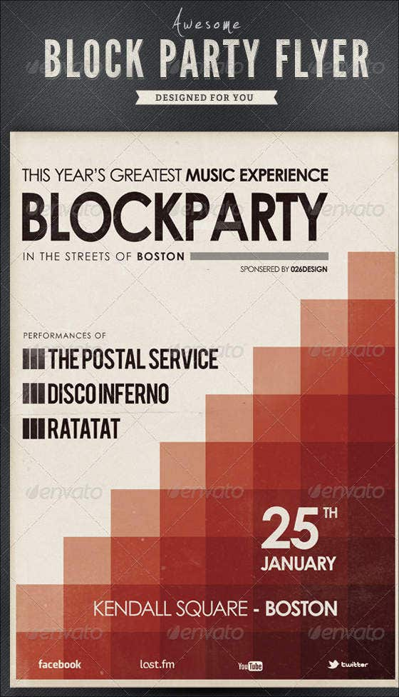 Awesome Block Party Flyer