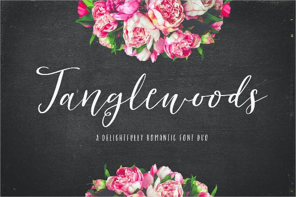 Romantic Word Font