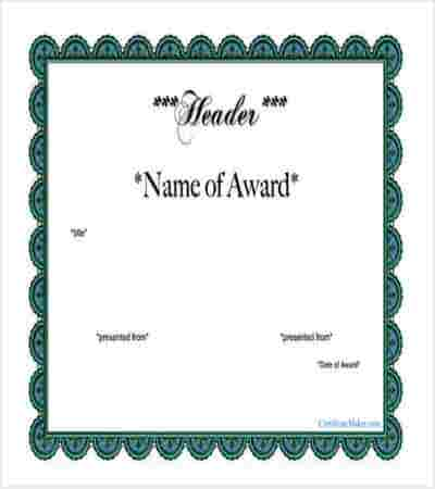 free printable award certificate template download min