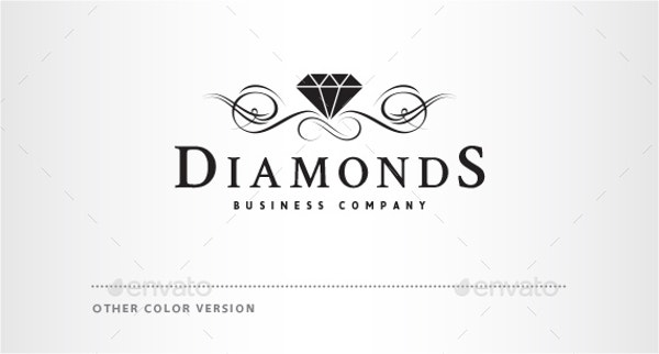 Black and White Diamond Logo