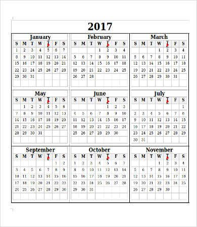 blank yearly calendar templates