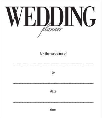 wedding day planner template