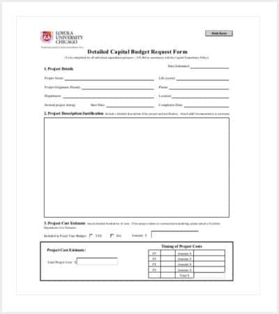 capital expenditure budget template pdf min