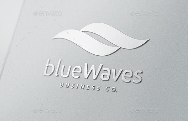 abstract-luxury-blue-waves-logo