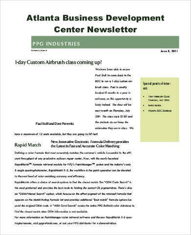 Business Newsletter   Free Pdf Documents Download  Free