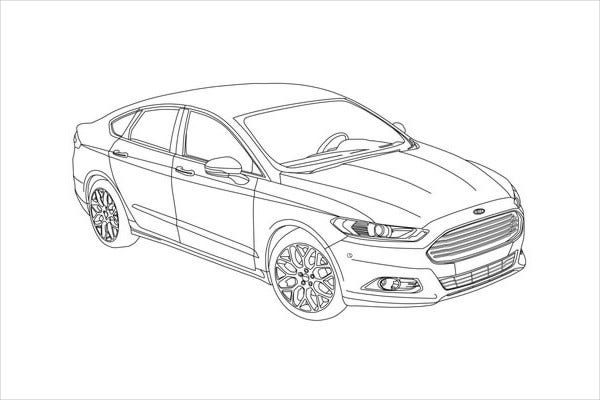 Cool Car Coloring Page