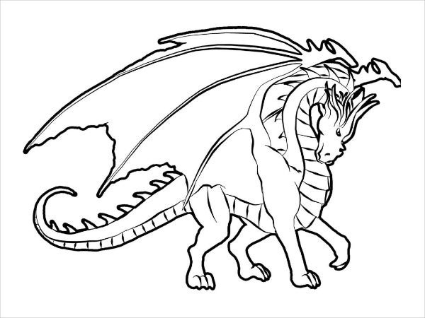 Cool Dragon Coloring Page