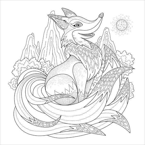 Cool Animal Coloring Page