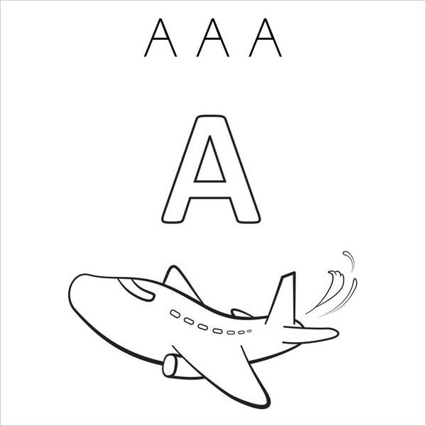 Cool Alphabet Coloring Page