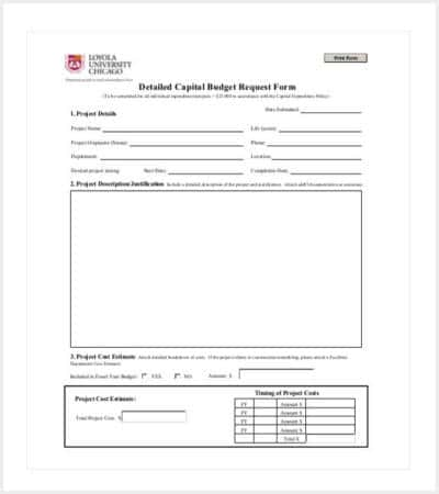 capital expenditure budget template pdf format min