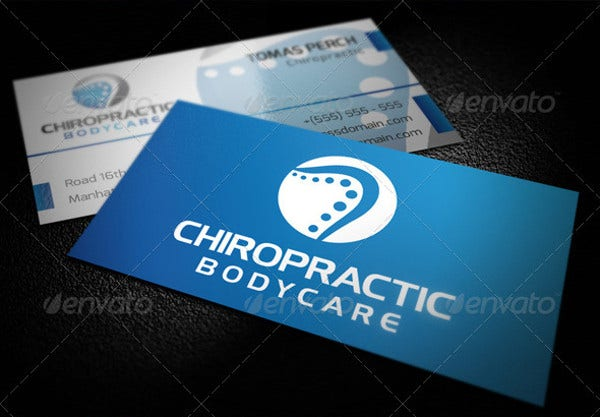 Chiropractic Logo Business Card