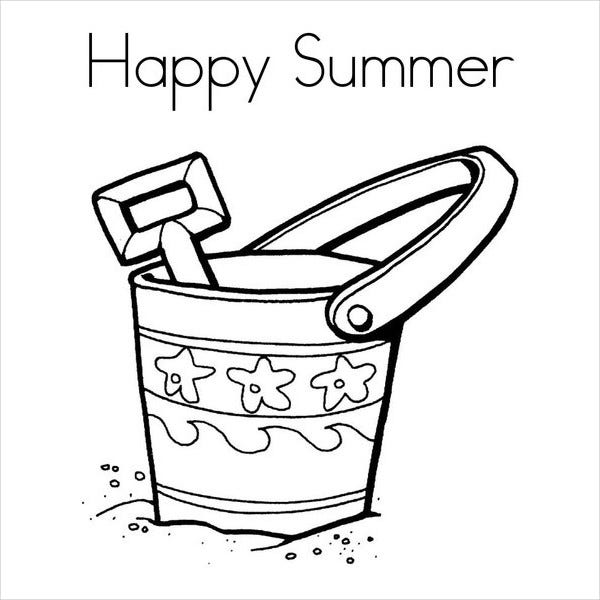 happy summer coloring page - Summer Coloring Page