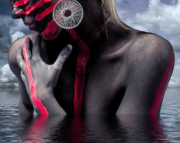 surreal body painting