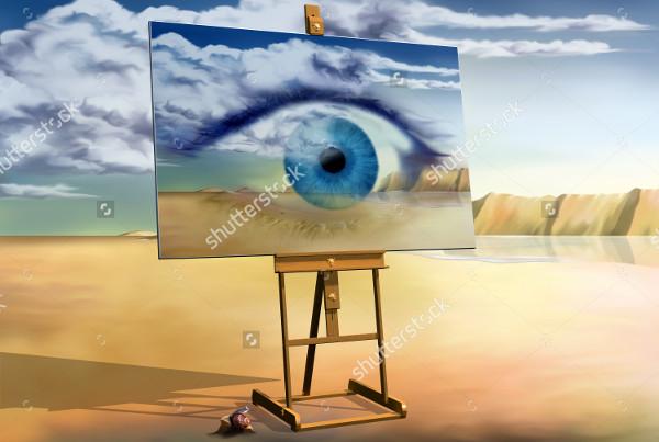 landscape surreal painting